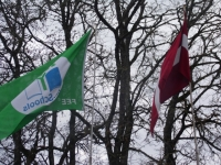 Pie mūsu skolas atkal plīvo Zaļais karogs